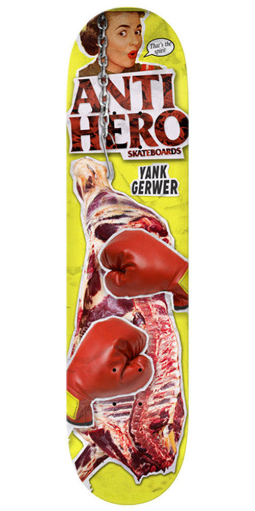 Anti-Hero Gerwer Party Of 1 - Yellow - 8.06in x 32.0in - Skateboard Deck