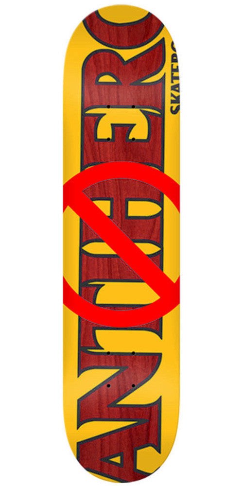 Anti-Hero Anti Anti Medium - Orange - 8.25in x 32.0in - Skateboard Deck