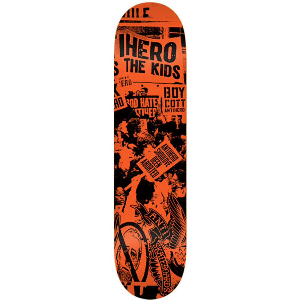 Anti-Hero Protest PP Medium - Orange - 8.06in x 32.0in - Skateboard Deck