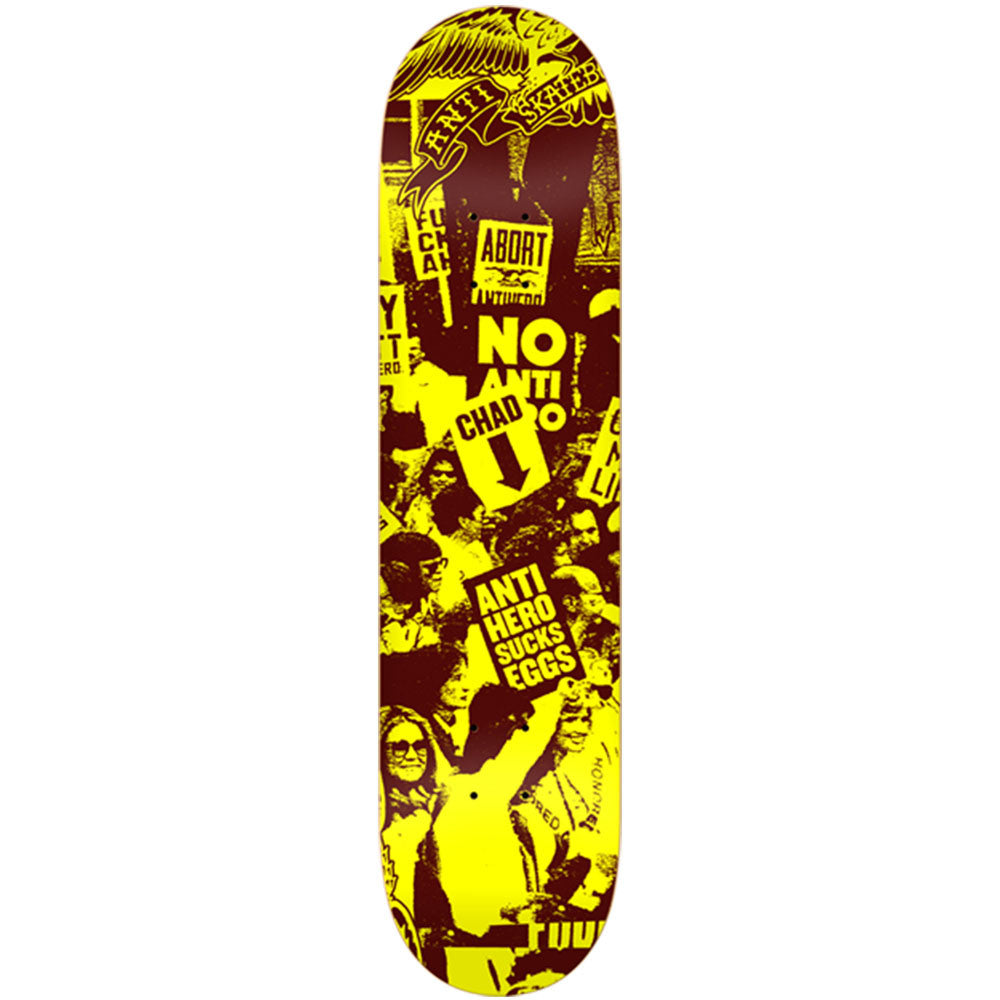 Anti-Hero Protest PP Large - Yellow - 8.25in x 32.0in - Skateboard Deck