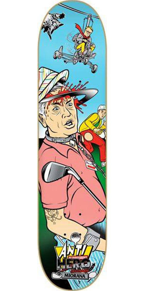 Anti-Hero Miorana Quadruple Feature - Multi - 8.5in x 32.0in - Skateboard Deck