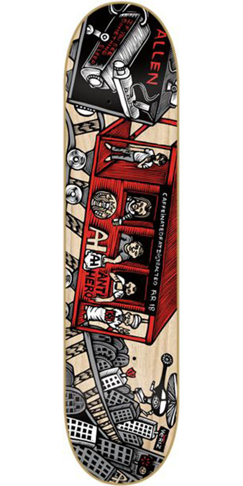 Anti-Hero Allen Mcnett Train Key - Natural - 8.62in x 32.56in - Skateboard Deck