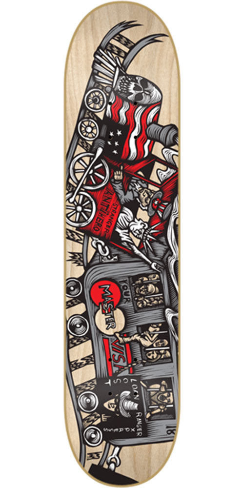Anti-Hero Stranger Mcnett Train Key - Natural - 8.4in x 32.0in - Skateboard Deck