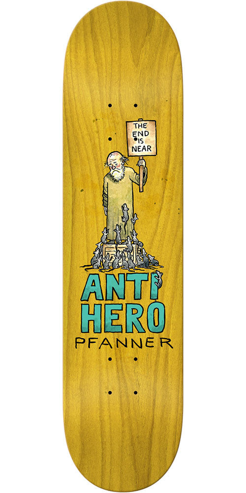 Anti-Hero Chris Pfanner Wonderful Life - Assorted - 8.25in x 32in - Skateboard Deck