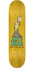 Anti-Hero Chris Pfanner Wonderful Life - Yellow - 8.25in x 32in - Skateboard Deck