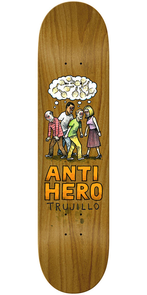 Anti-Hero Tony Trujillo Wonderful Life - Brown - 8.18in x 32in - Skateboard Deck