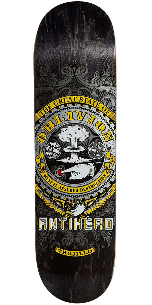 Anti-Hero Trujillo State of Mind - Black - 8.75in x 32.75in - Skateboard Deck