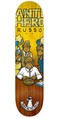 Anti-Hero Russo Where Now - Yellow/Brown - 8.06in x 31.8in - Skateboard Deck