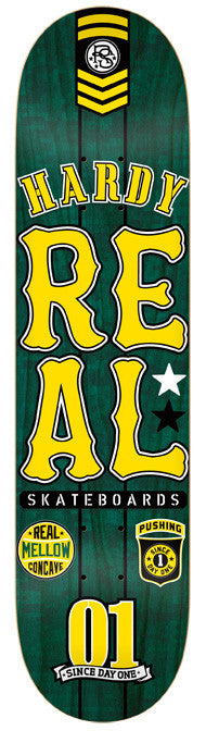 Real Hardy Urban Ops Mellow - Green/Yellow - 8.02 - Skateboard Deck