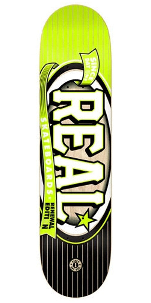 Real Renewal Knockout Small PP - Yellow - 7.56 - Skateboard Deck