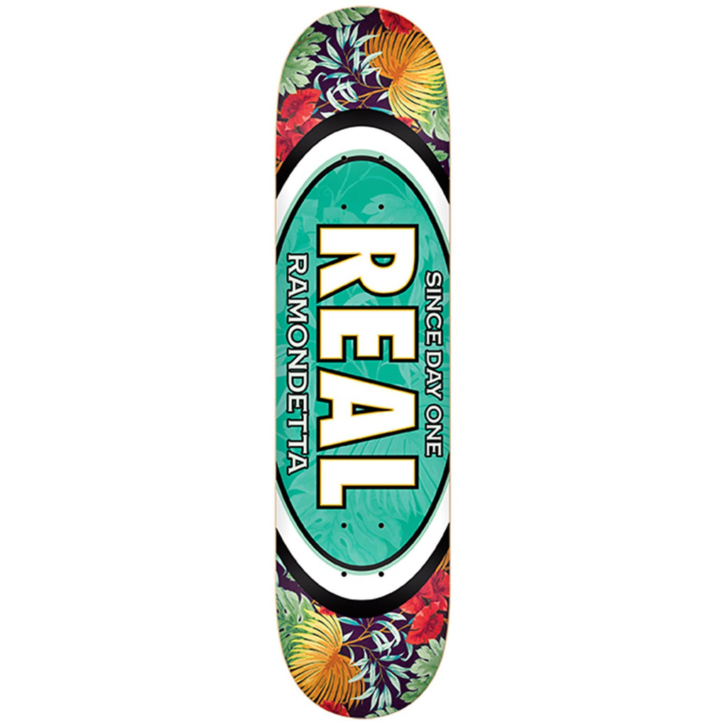 Real Ramondetta Flower Oval - Teal - 8.5 - Skateboard Deck