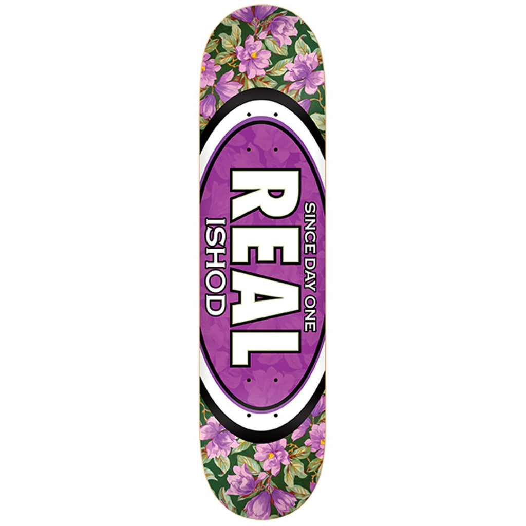 Real Wair Flower Oval - Purple - 8.3 - Skateboard Deck