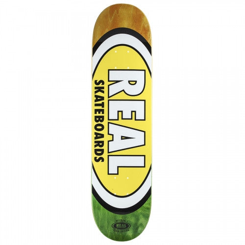 Real Team Edition Oval Fade Small - Yellow - 8.06 - Skateboard Deck
