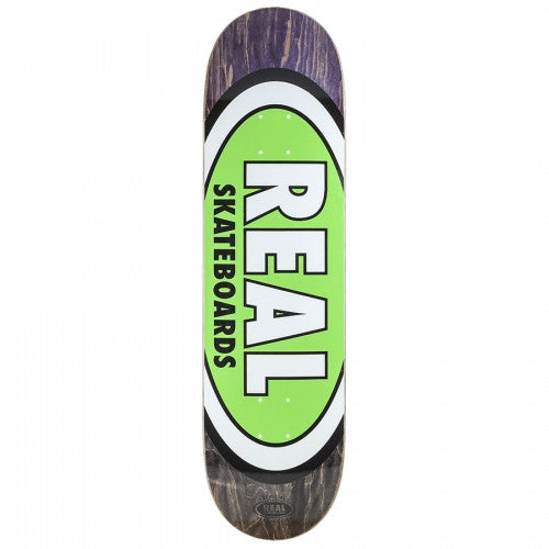 Real Team Edition Oval Fade Large - Green - 8.38 - Skateboard Deck
