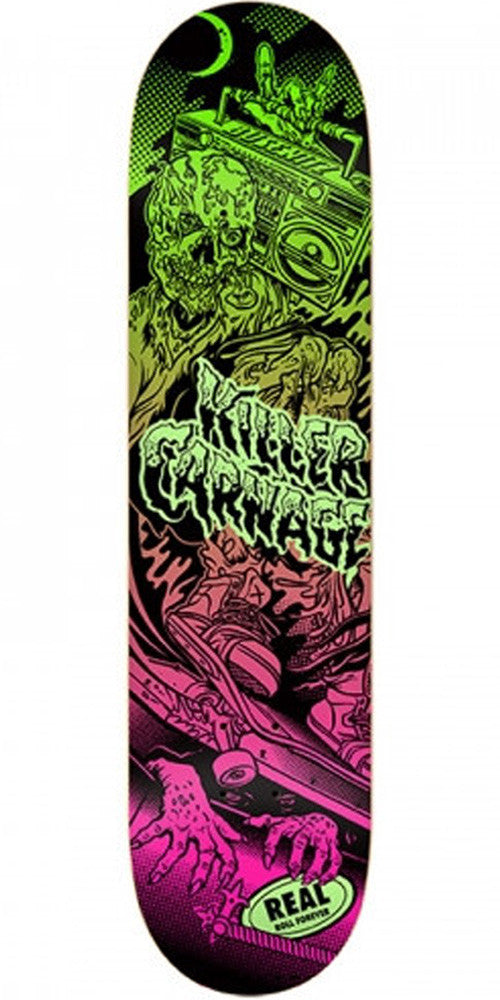 Real Busenitz Psycho Awesome Color Block - Purple/Green - 8.28 - Skateboard Deck