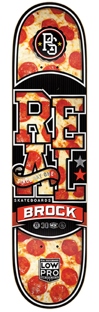 Real Brock Hot N' Ready Low Pro 2 - Red/Black - 8.43 x 32.57 - Skateboard Deck