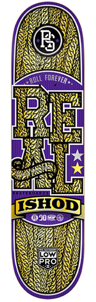 Real Wair Off The Chain Low Pro 2 - Purple/Gold - 8.25 x 32 - Skateboard Deck