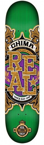 Real Ferguson Mellow Gold - Green/Gold - 8.25 x 32 - Skateboard Deck