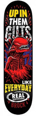 Real Brock Crypto Mashup - Black/Red/Yellow - 8.5 x 32.18 - Skateboard Deck