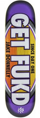 Real Donnelly Get Fukd - Purple/White - 8.25 x 32 - Skateboard Deck