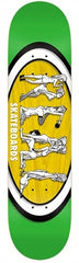 Real Hot Ovals Small - Green/Yellow/White - 8.06 x 32 - Skateboard Deck