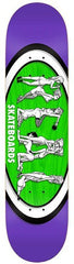 Real Hot Ovals Extra Large - Purple/Green/White - 8.5 x 32.56 - Skateboard Deck