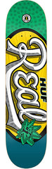 Real Huf #1 Oval - Yellow - 8.18 x 31.84 - Skateboard Deck