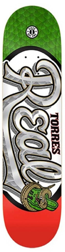 Real Torres #1 Oval - White - 8.06 x 32 - Skateboard Deck