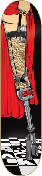 Blemished Real Brock Hard Night - Black/Red - 8.5 x 32.18 - Skateboard Deck