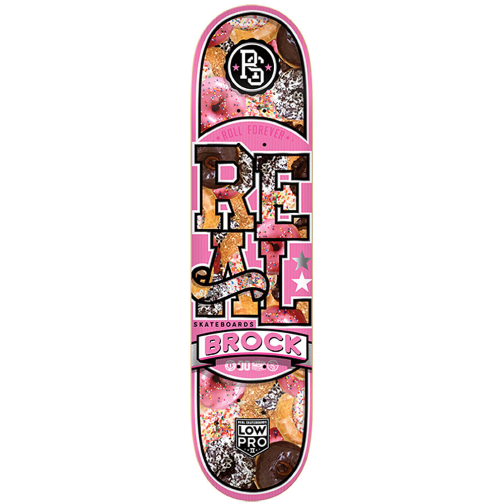 Real Brock Bakers Dozen LowPro 2 - Pink - 8.18 x 31.84 - Skateboard Deck