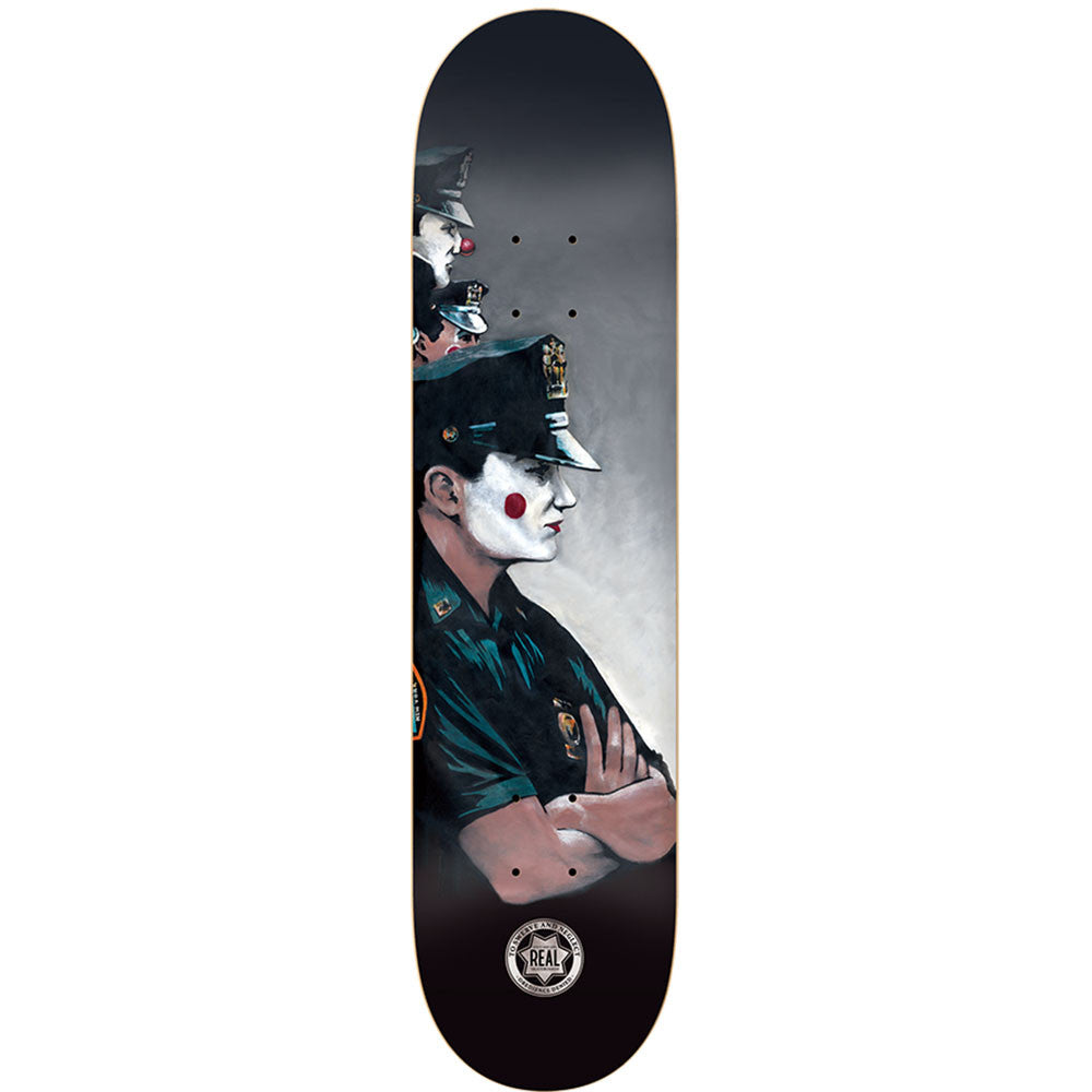 Real To Swerve and Neglect SM - Black/Grey - 8.125 x 32.0 - Skateboard Deck
