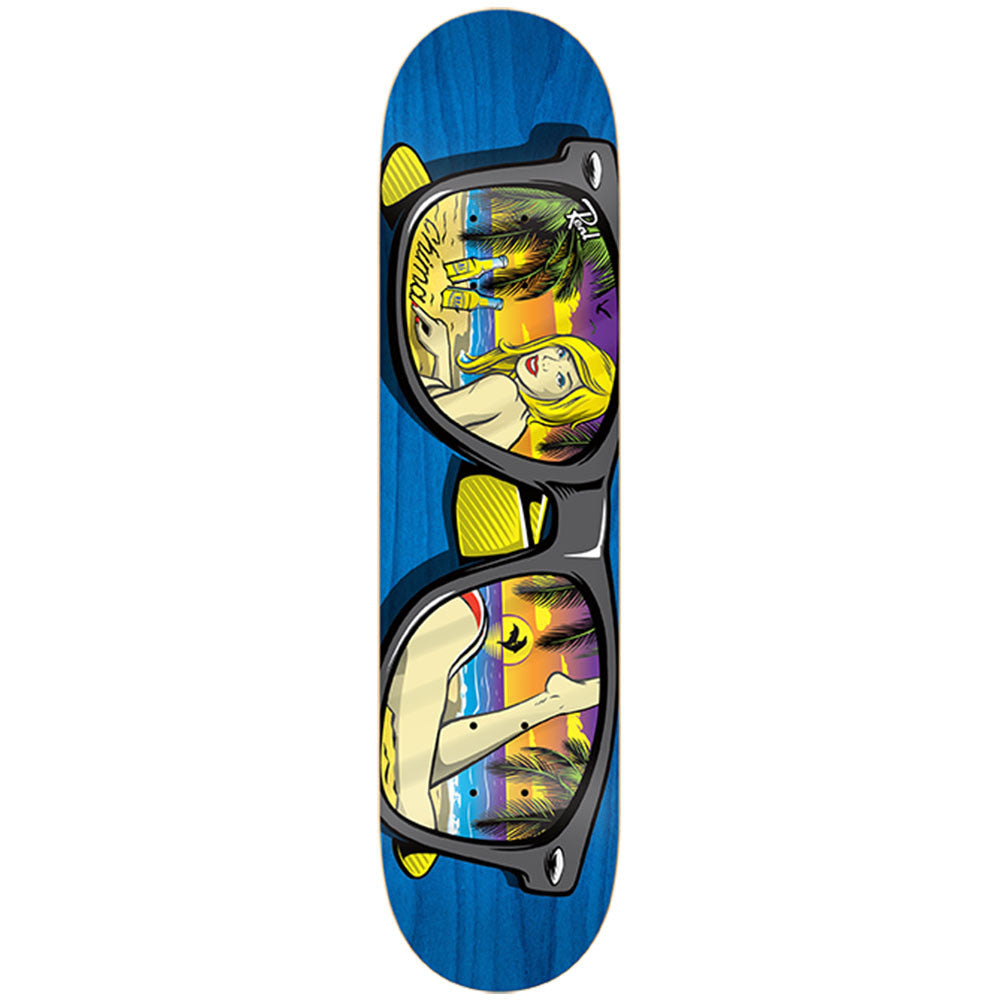 Real Ferguson Sunnies LG - Blue - 8.38 x 32.56 - Skateboard Deck