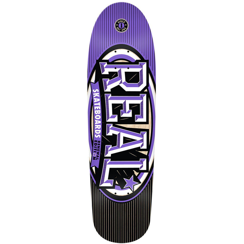 Real Renewal Stacked 86 - Purple - 8.81 x 31.25 - Skateboard Deck