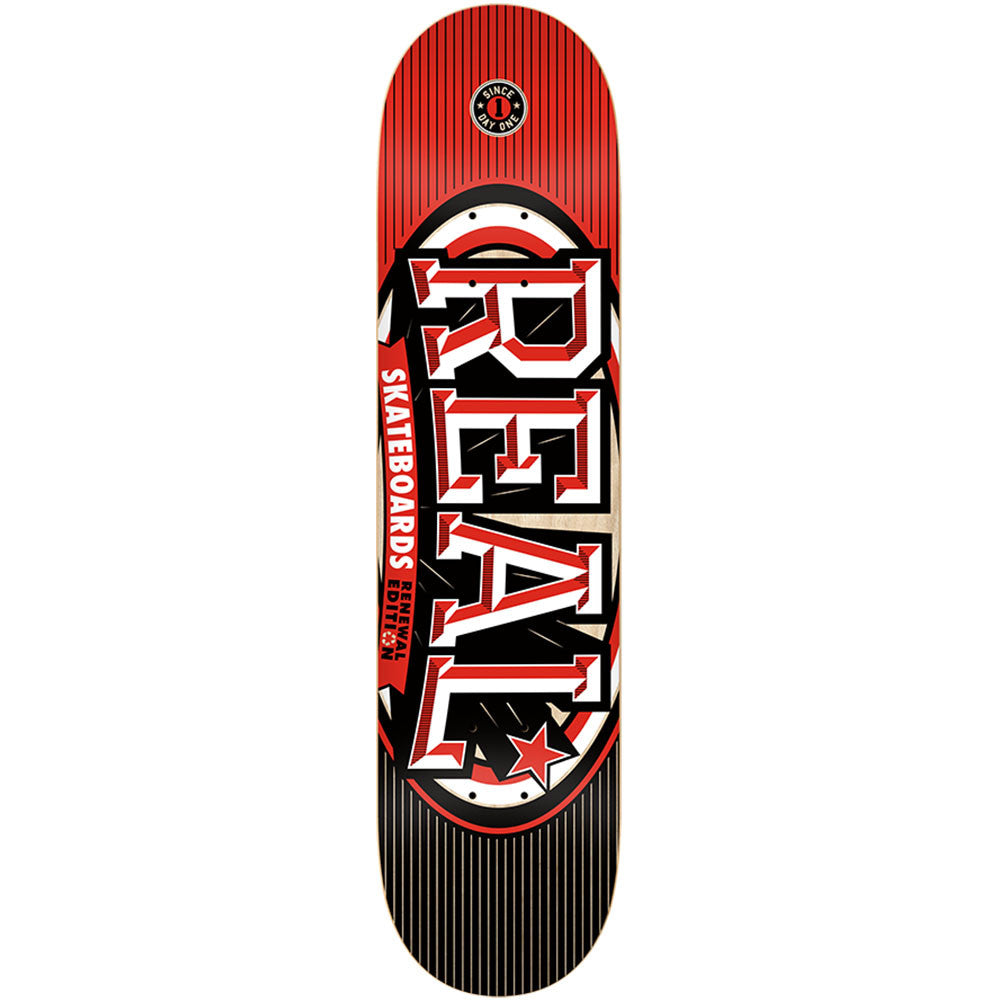 Real Renewal Stacked LG - Red - 8.06 x 32.0 - Skateboard Deck