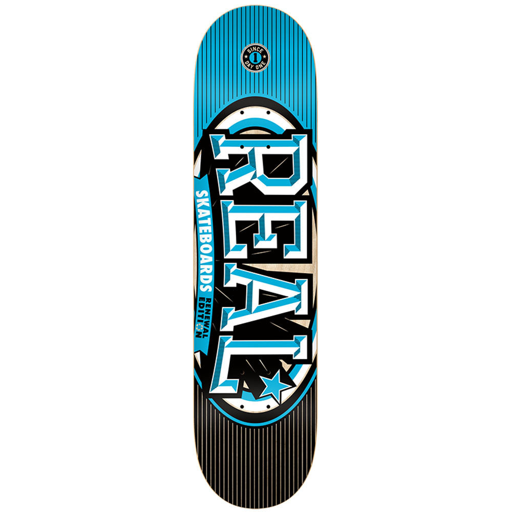 Real Renewal Stacked XL - Blue - 8.25 x 32.0 - Skateboard Deck
