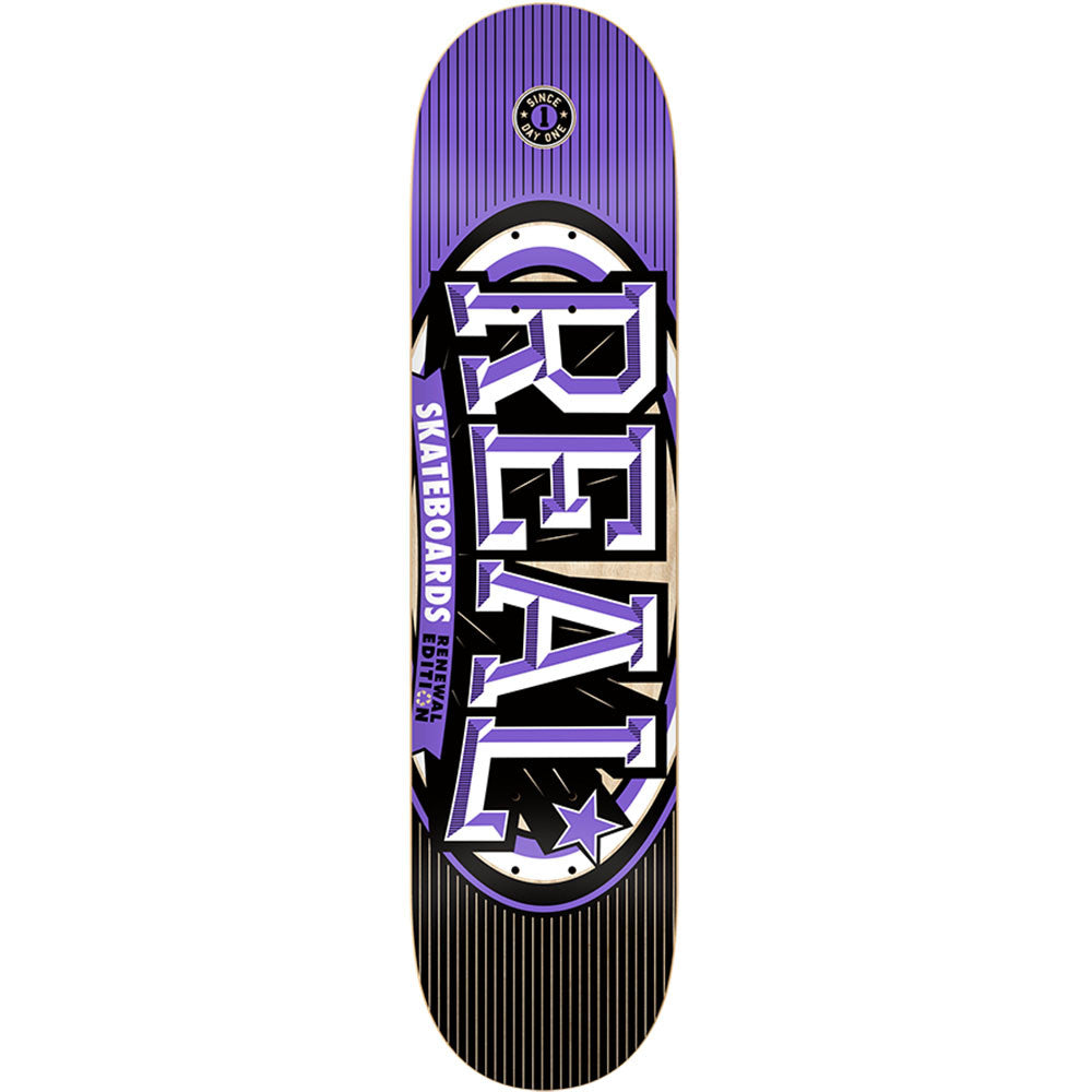 Real Renewal Stacked XXL - Purple - 8.5 x 32.18 - Skateboard Deck