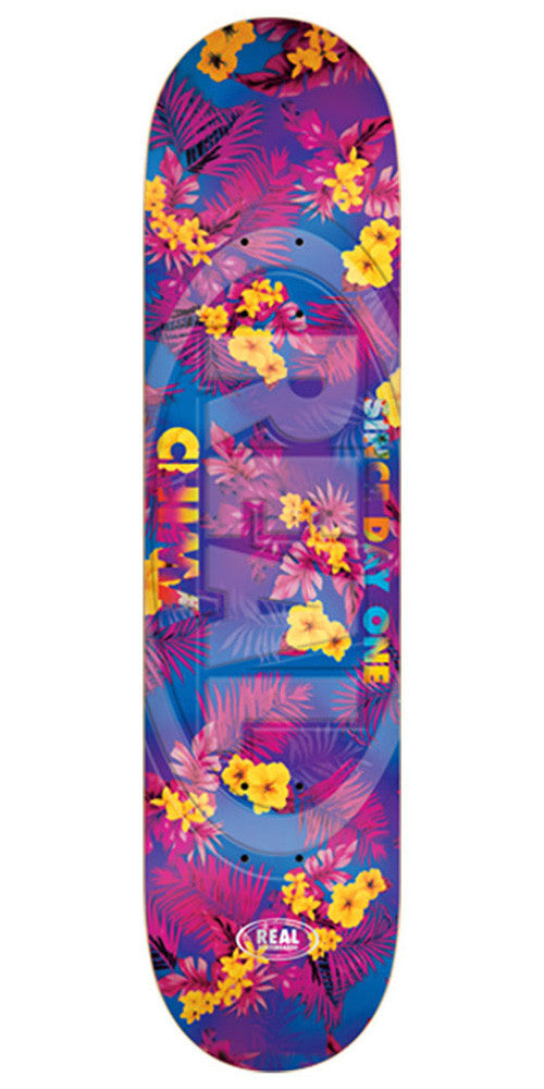 Real Chima Floral Oval Embossed Large - Multi - 8.38in x 32.56in - Skateboard Deck