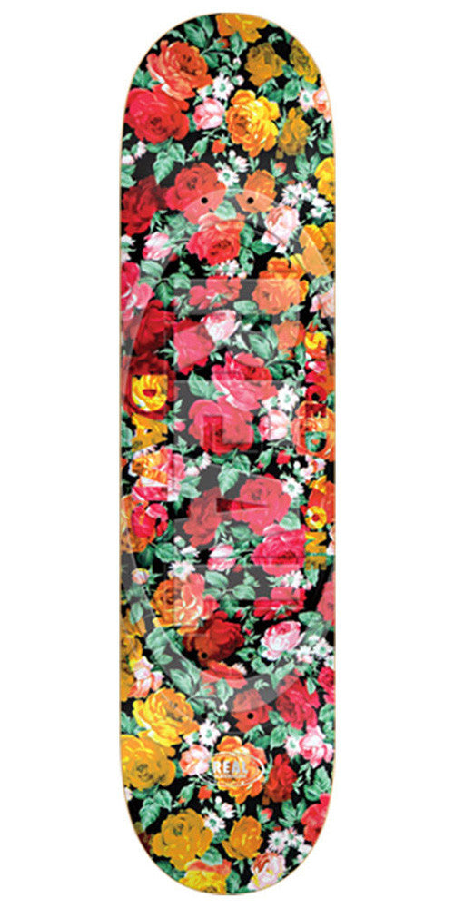 Real Davis Floral Oval Embossed Large - Multi - 8.25in x 32.0in - Skateboard Deck