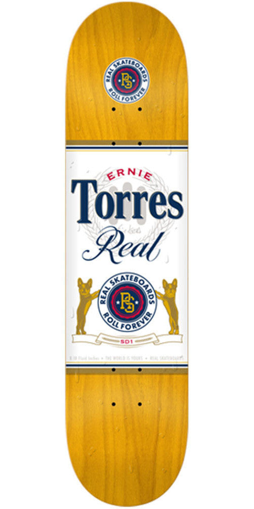 Real Torres Especial - Gold - 8.18in x 31.84in - Skateboard Deck