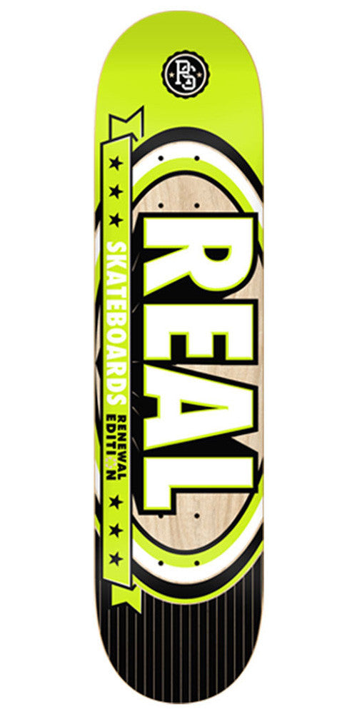 Real Renewal Select Small - Lime - 7.56in x 31.38in - Skateboard Deck