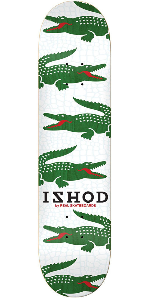 Real Ishod Wair Prep - White - 7.81in x 31.3in - Skateboard Deck