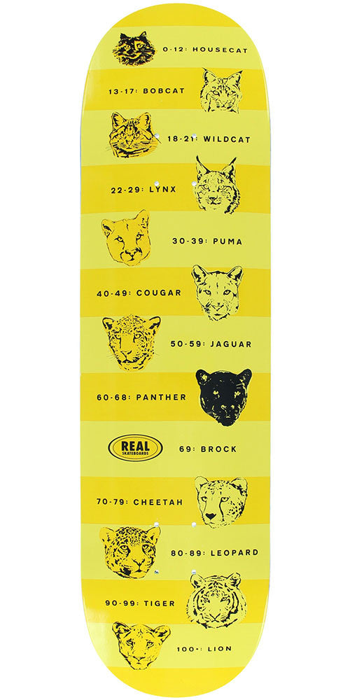 Real Justin Brock Prowler - Yellow/Orange - 8.43in x 32.22in - Skateboard Deck