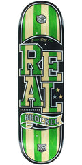 Real Robbie Brockel Spliced Low Pro II - Nature/Green - 8.5in x 32.5in - Skateboard Deck