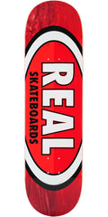 Real 50/50 Oval - Red/Red - 8.75in x 32.5 - Skateboard Deck