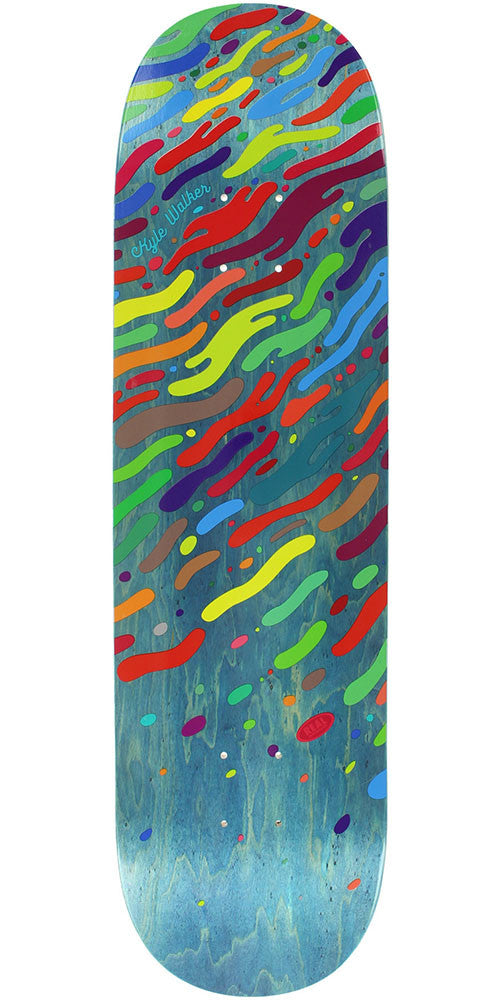 Real Walker Ocean Floor - Blue - 8.25in x 32.0in - Skateboard Deck