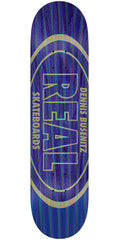 Real Busenitz Holographic Oval - Purple/Blue - 8.5in x 32.5in - Skateboard Deck