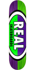 Real 50/50 Oval - Purple/Green - 7.75in x 31.25in - Skateboard Deck
