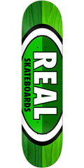 Real 50/50 Oval - Green/Green - 8.06in x 32in - Skateboard Deck