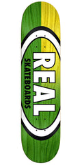 Real Skinny Dip Oval - Green/Yellow - 8.25in x 32.0in - Skateboard Deck