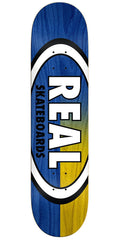 Real Skinny Dip Oval - Blue/Yellow - 8.5in x 32.5in - Skateboard Deck